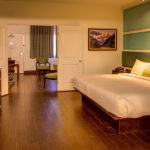 king bed suite with separate sitting area